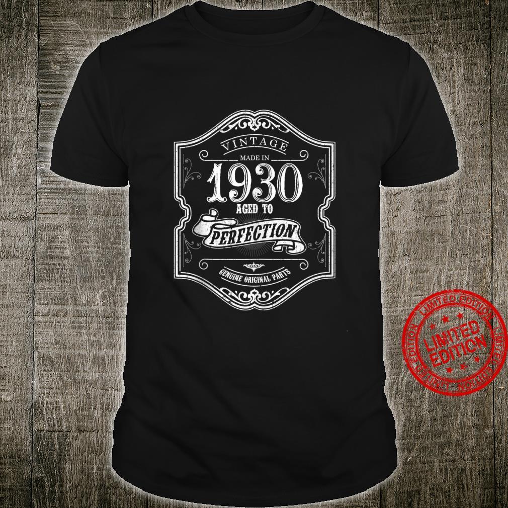 1930 Birthday for 90 Years Old 90th Birthday Shirt