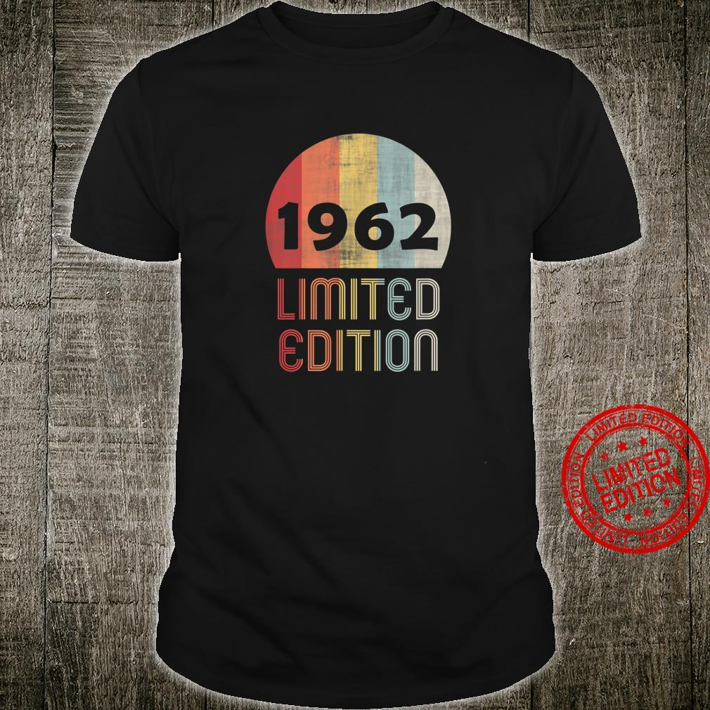 1962 Limited Edition 59th Birthday 58 Years Old Shirt