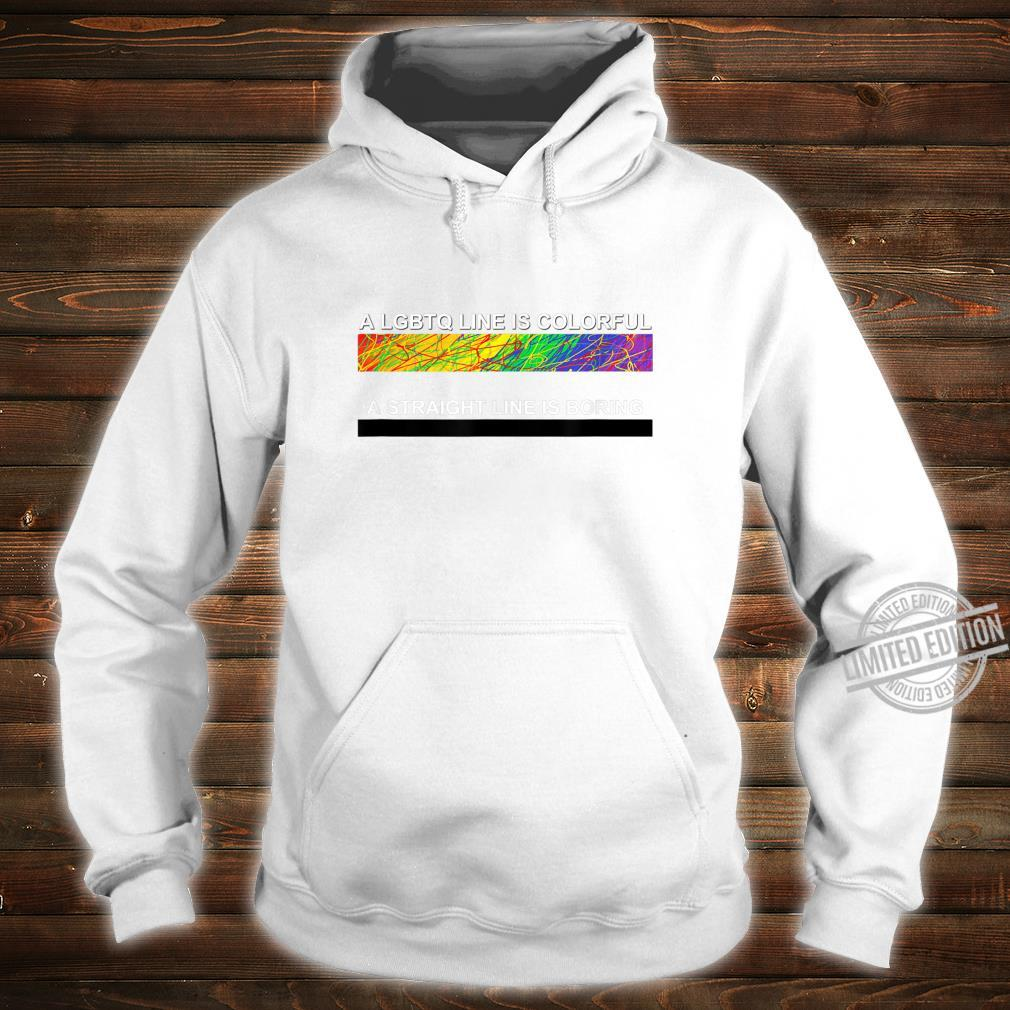 A cute LGBTQ Colorful Line apparel and. Shirt hoodie