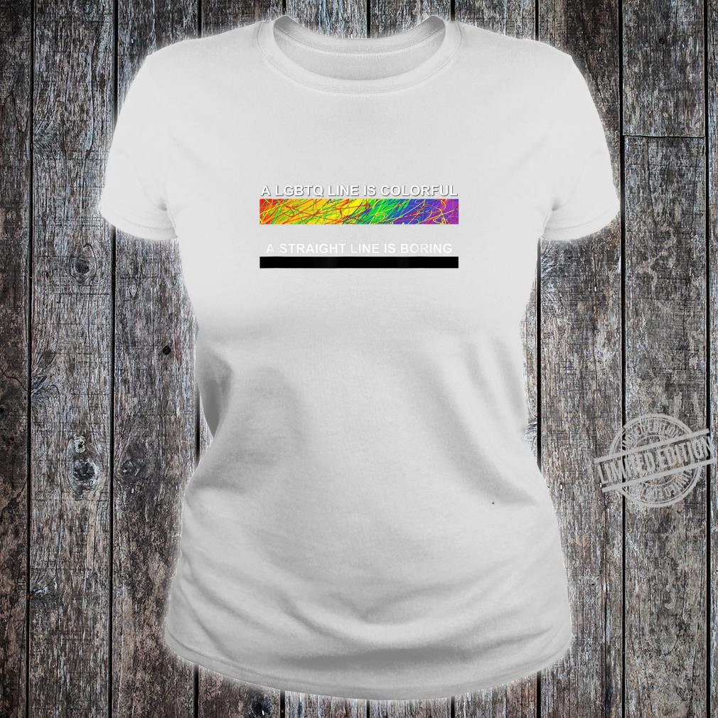 A cute LGBTQ Colorful Line apparel and. Shirt ladies tee