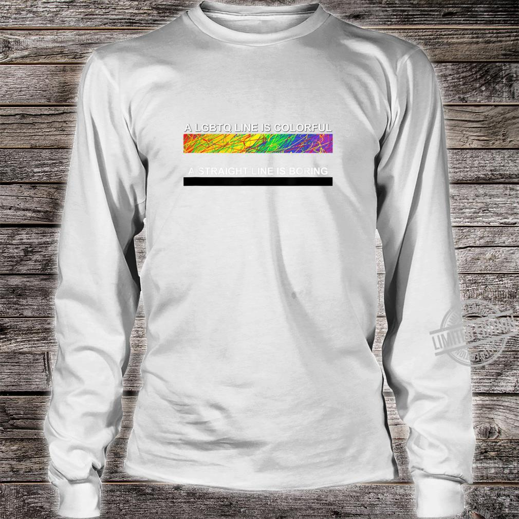 A cute LGBTQ Colorful Line apparel and. Shirt long sleeved