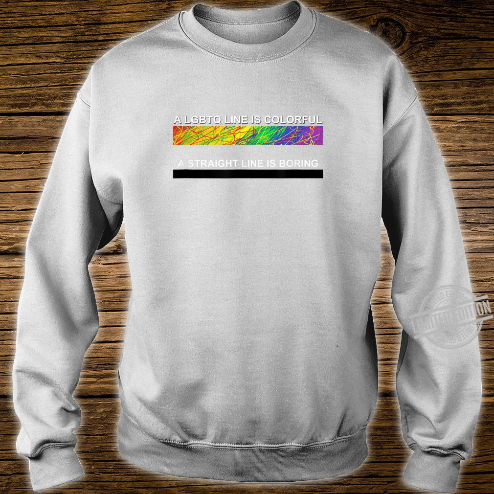 A cute LGBTQ Colorful Line apparel and. Shirt sweater