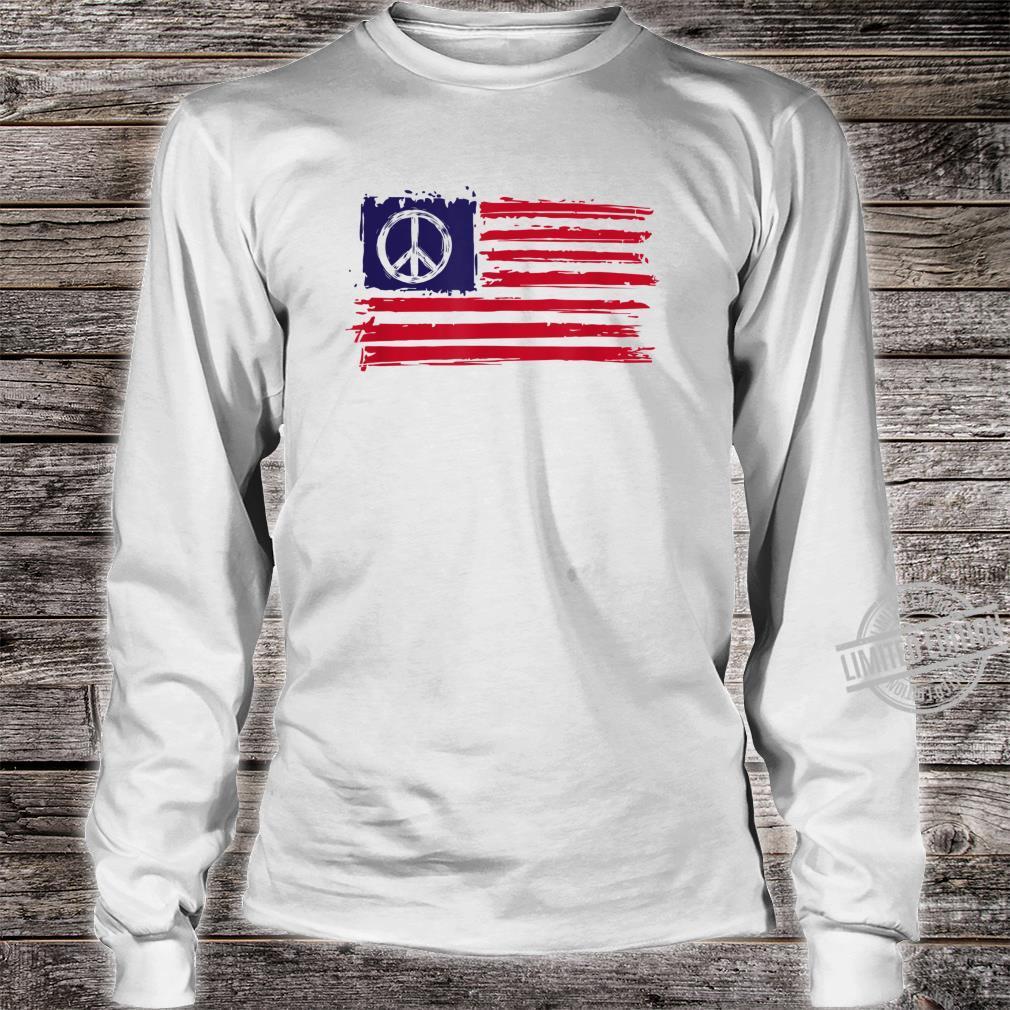 AMERICAN PEACE FLAG Shirt long sleeved