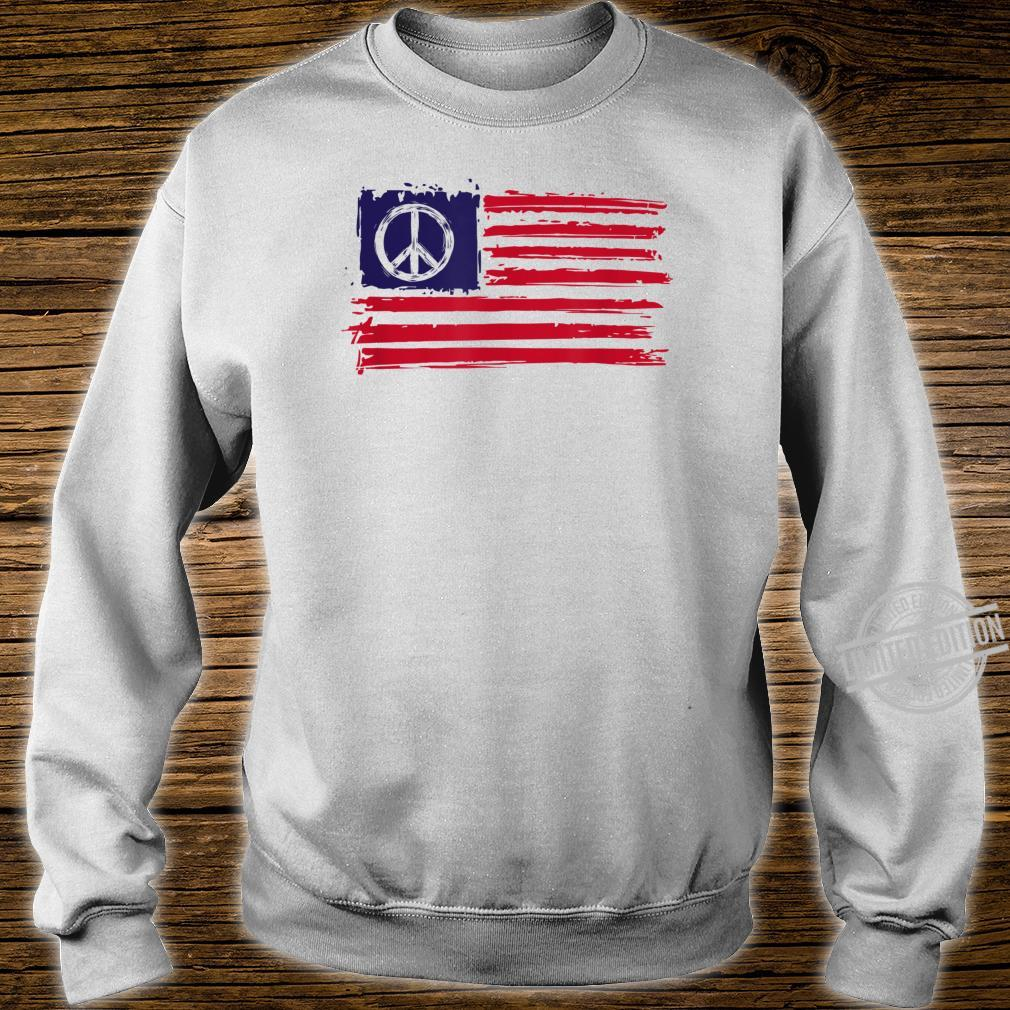 AMERICAN PEACE FLAG Shirt sweater