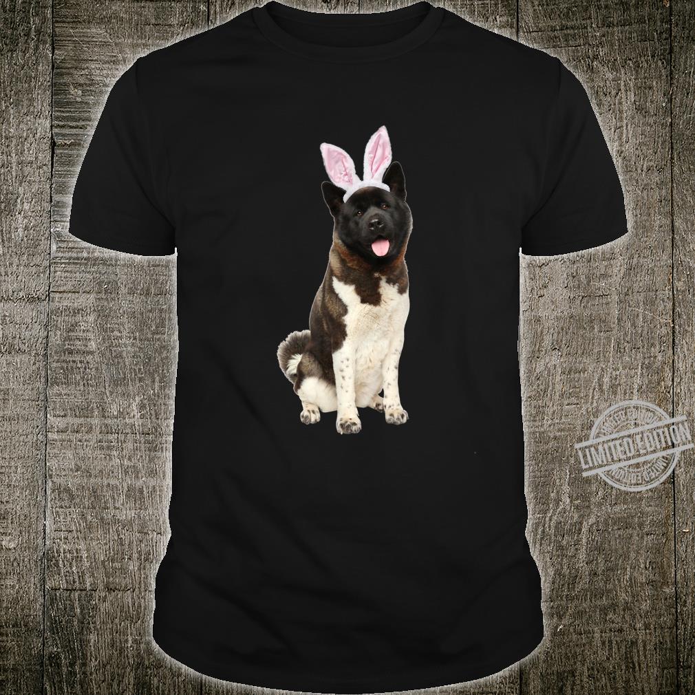 Akita Wearing Easter Bunny Ears Dog Shirt