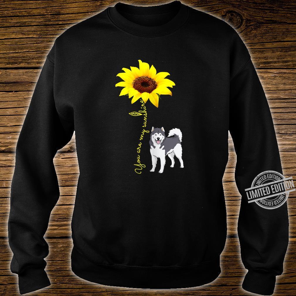 Alaskan Malamute Mom You My SunshineSunflower Shirt sweater