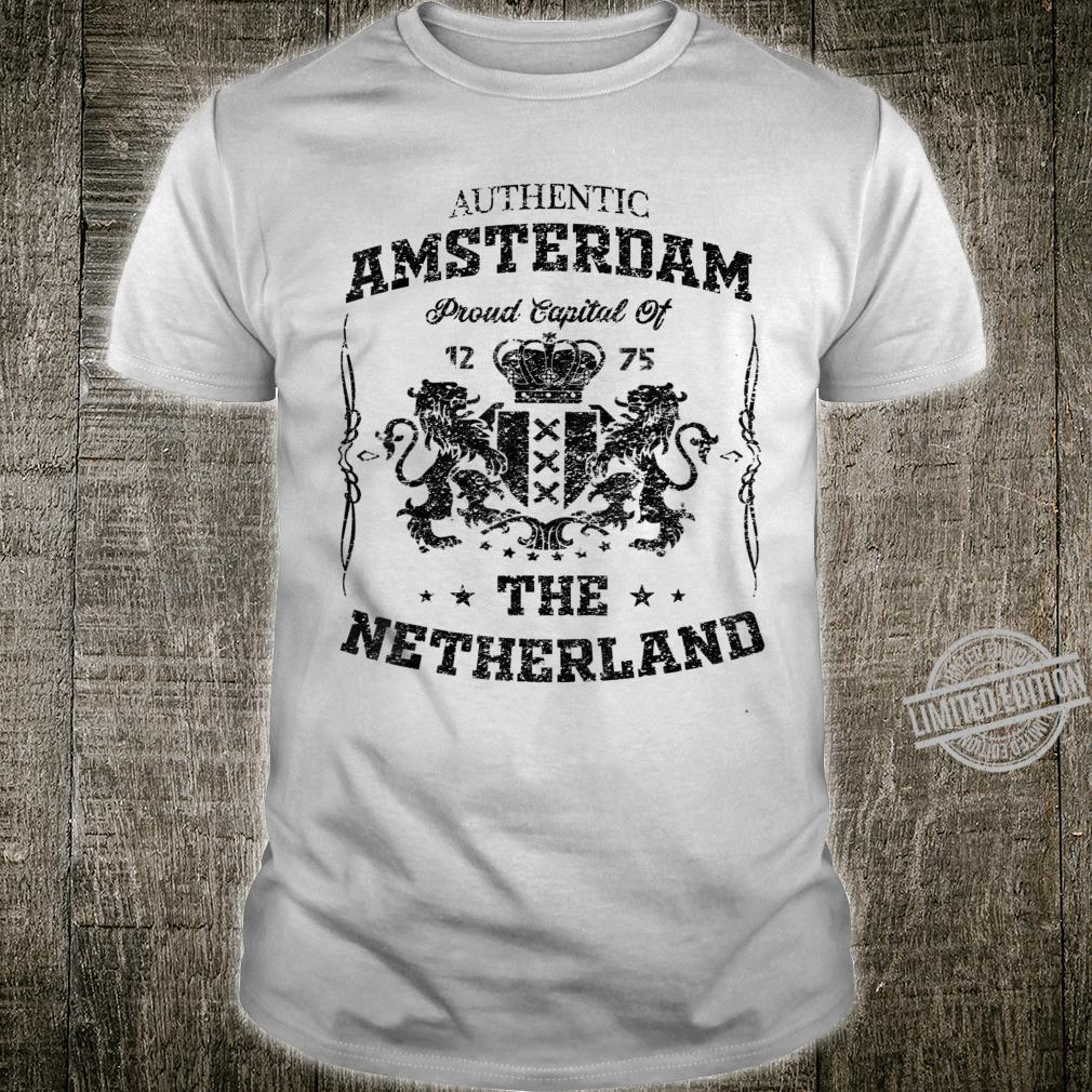 Amsterdam The Netherlands Holland Lion Dutch Souvenir Shirt