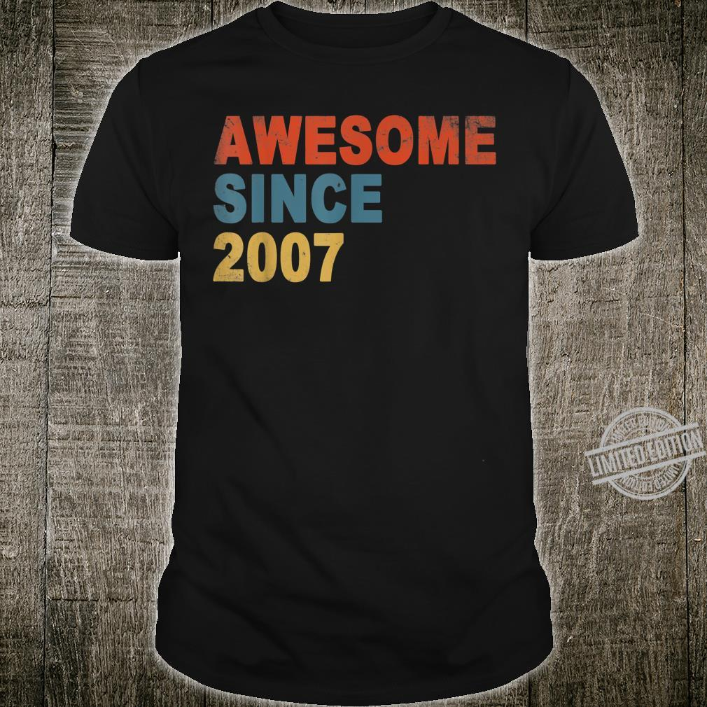 Awesome Since 2007 13th Birthday 13 Year Old Shirt