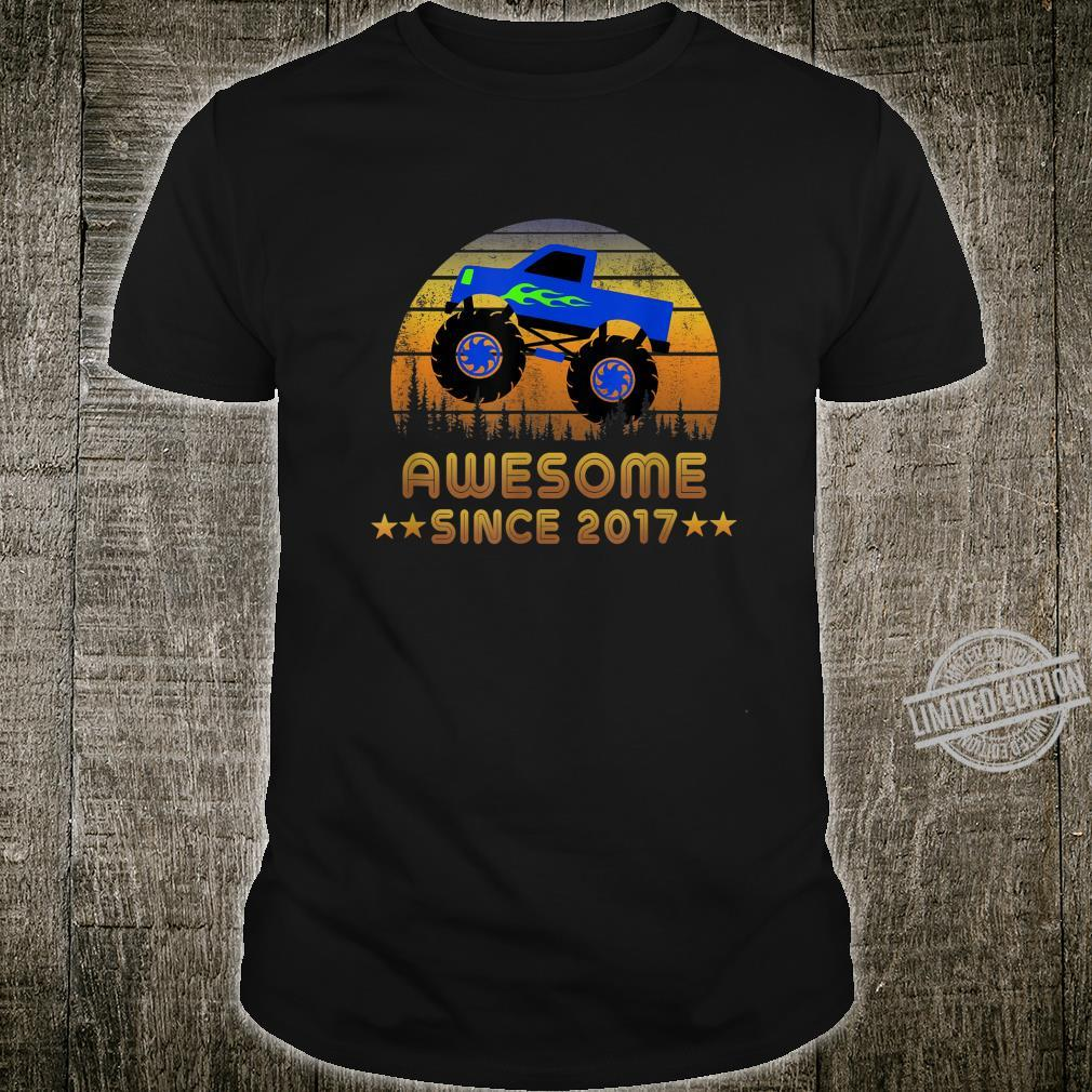 Awesome Since 2017 3rd Birthday Monster Truck Shirt