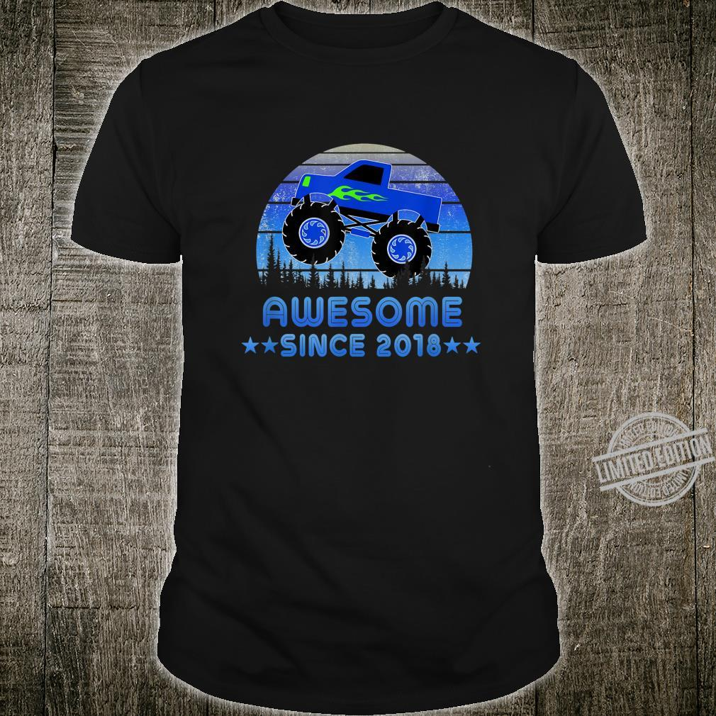 Awesome Since 2018 2nd Birthday Monster Truck Shirt