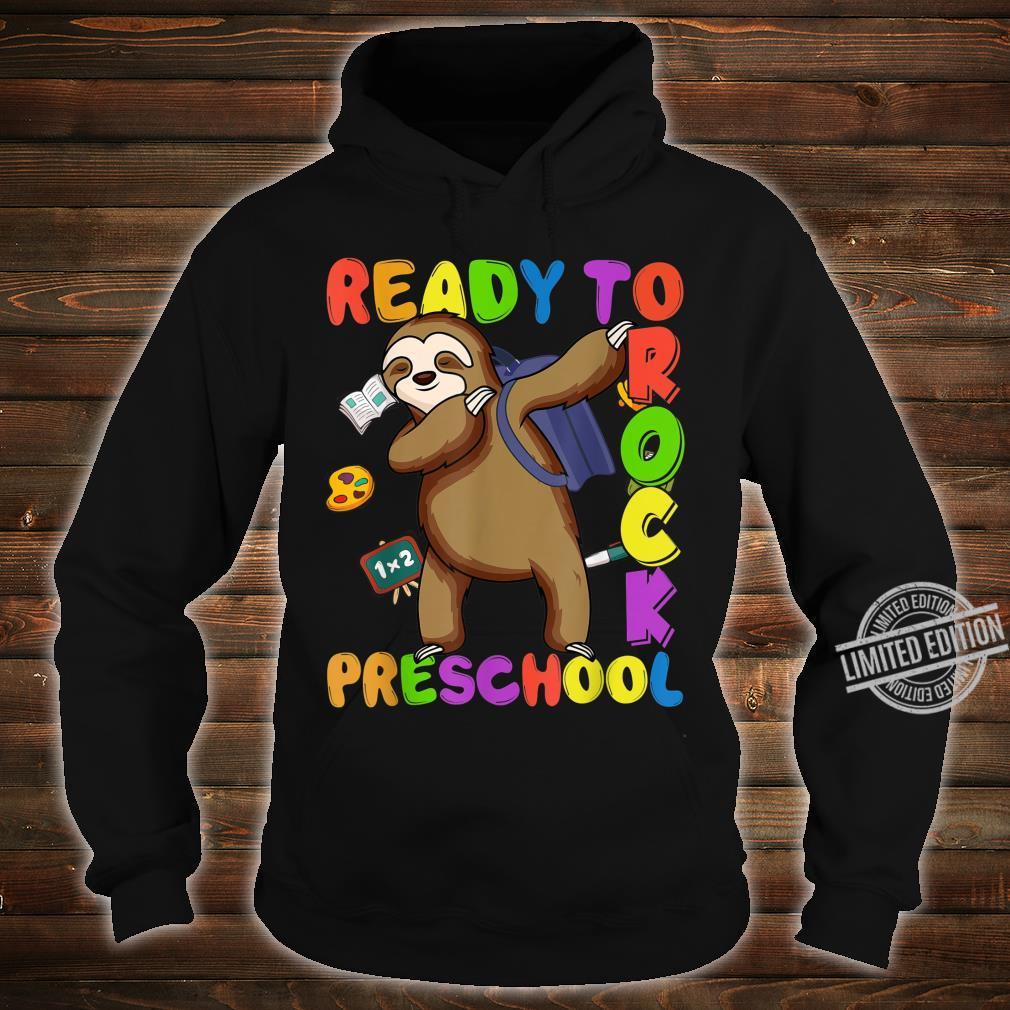 Back to School Sloth Dabbing Preschool Boys Girls Shirt hoodie