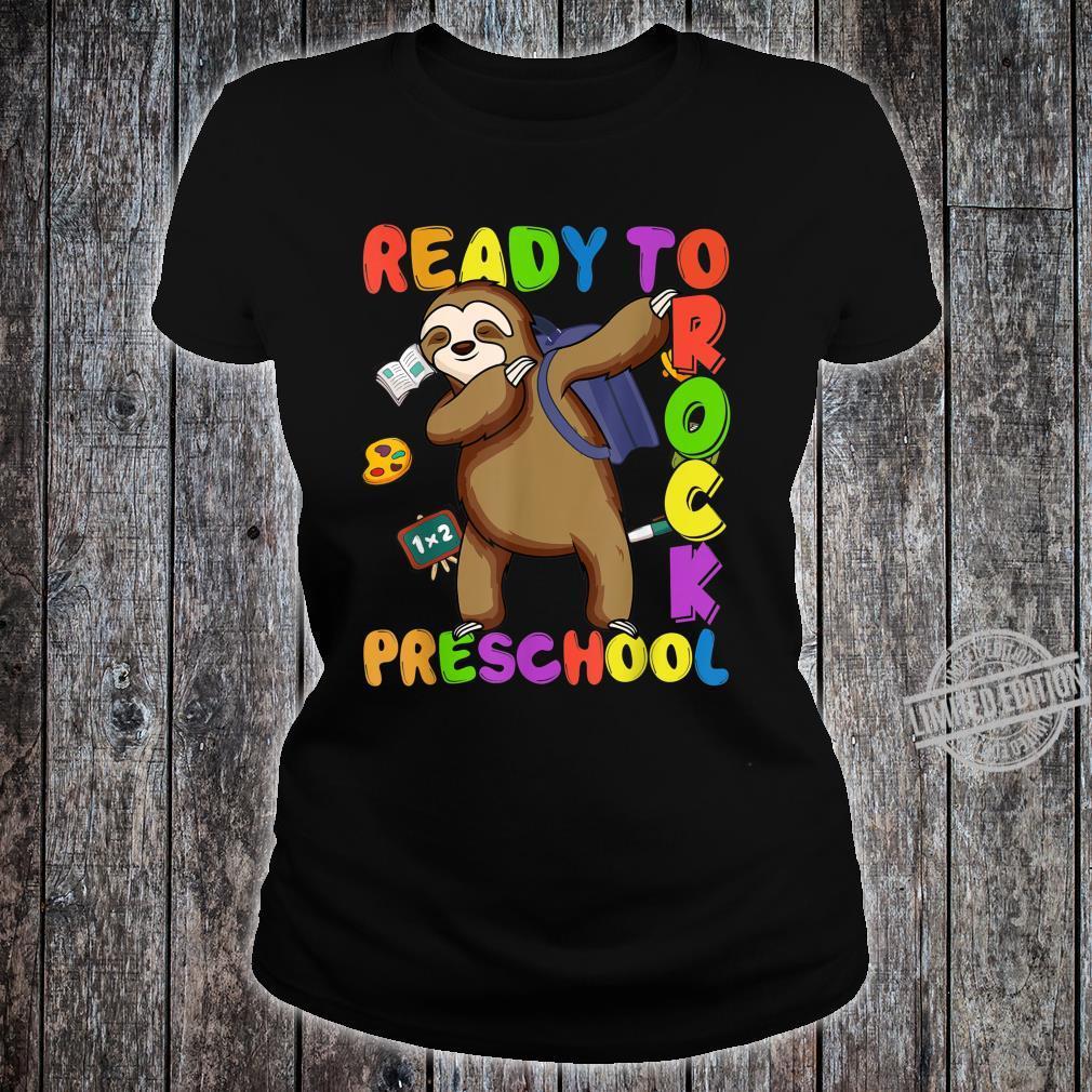 Back to School Sloth Dabbing Preschool Boys Girls Shirt ladies tee