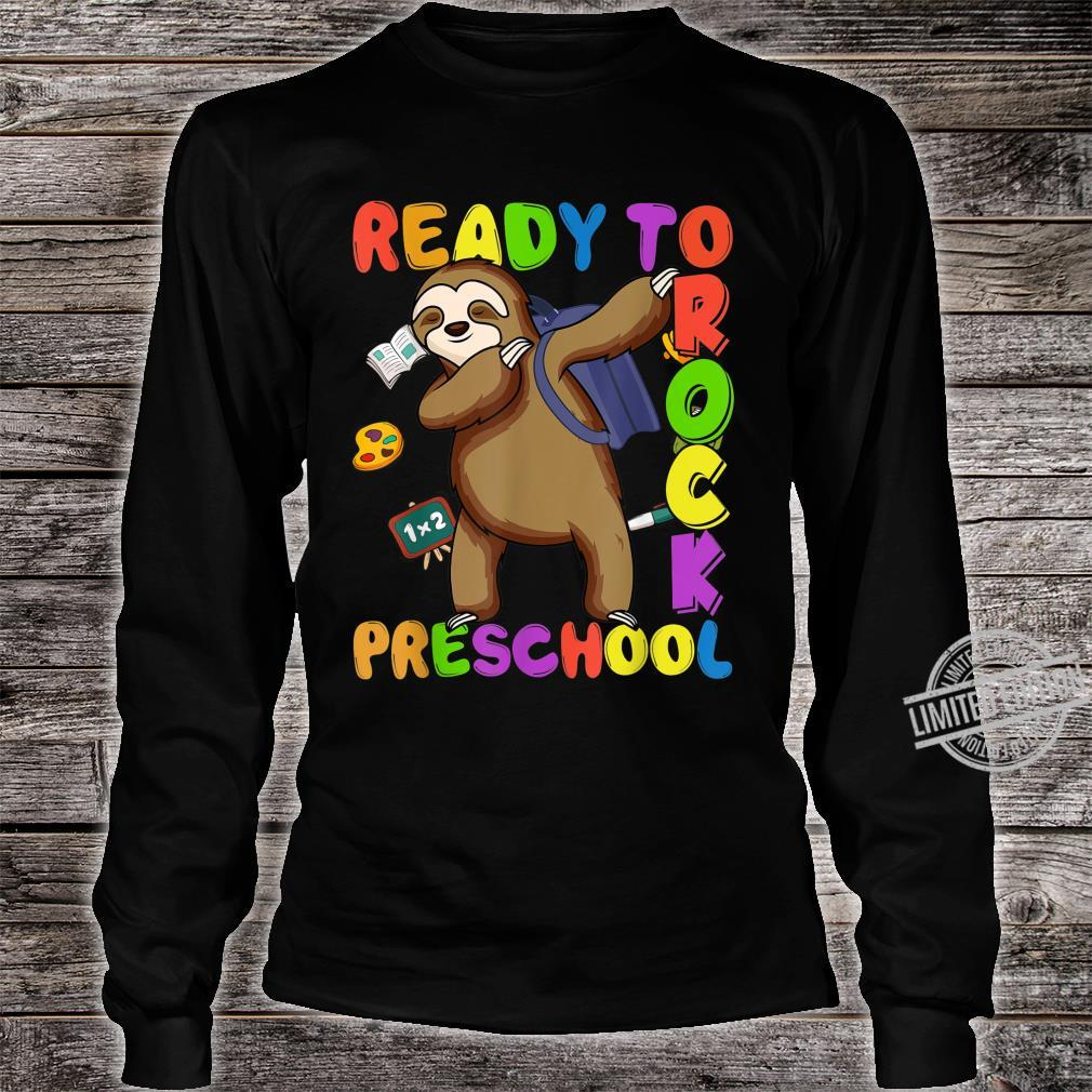 Back to School Sloth Dabbing Preschool Boys Girls Shirt long sleeved