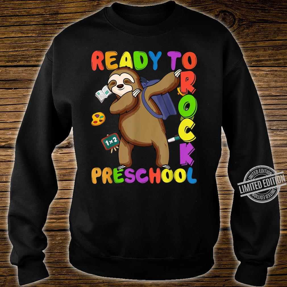 Back to School Sloth Dabbing Preschool Boys Girls Shirt sweater