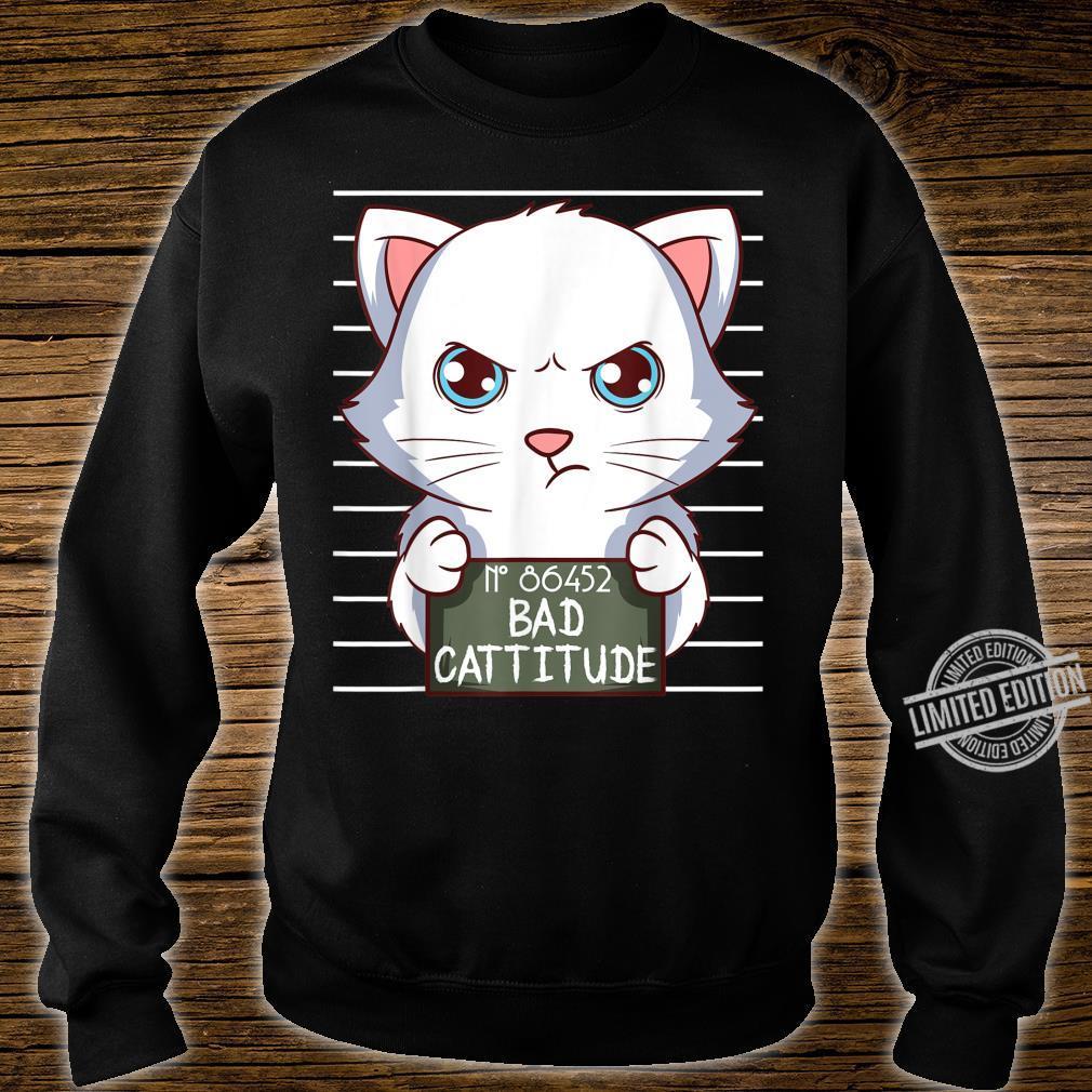 Bad Cattitude Lustige Katzenliebhaber Geschenk Kätzchen Shirt sweater