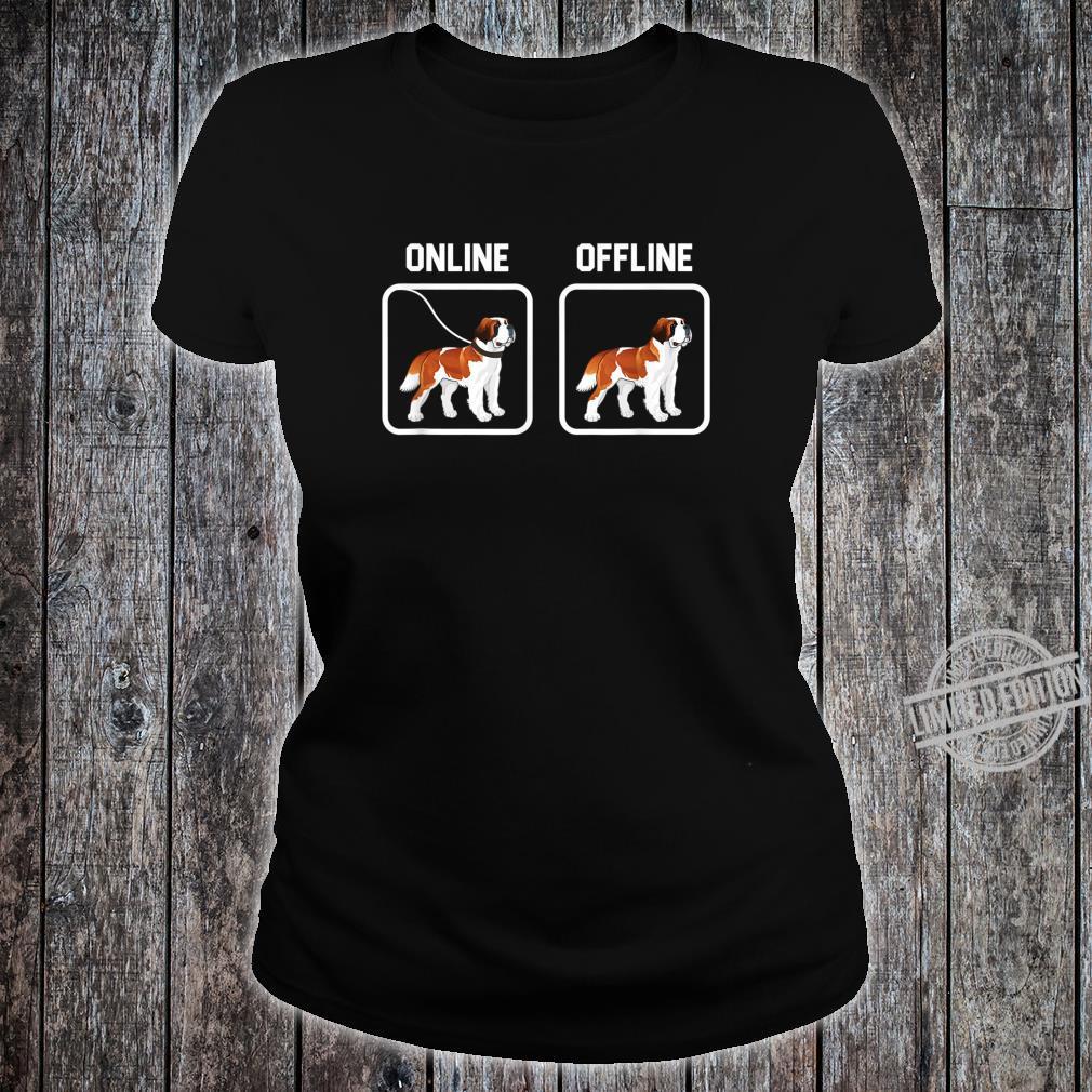 Bernhardiner Hund Hunde Hunderasse Hundeliebhaber Geschenk Shirt ladies tee