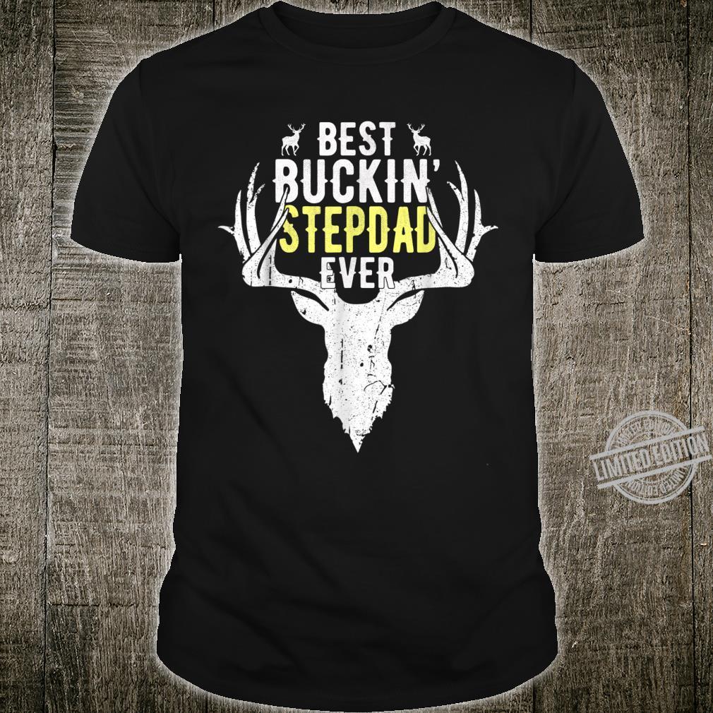 Best Buckin Stepdad Ever Hunting Hunter Shirt Fathers Day Shirt