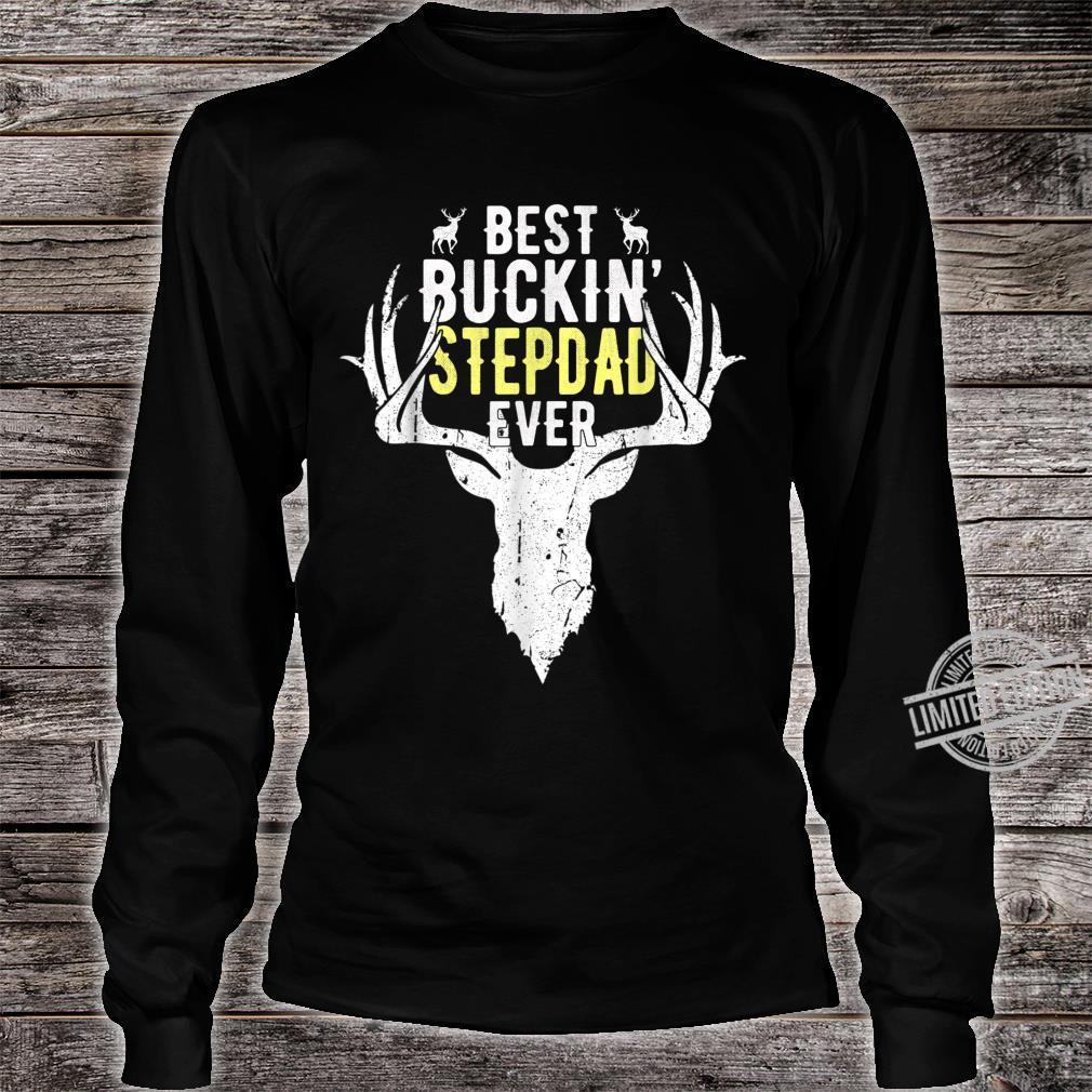 Best Buckin Stepdad Ever Hunting Hunter Shirt Fathers Day Shirt long sleeved