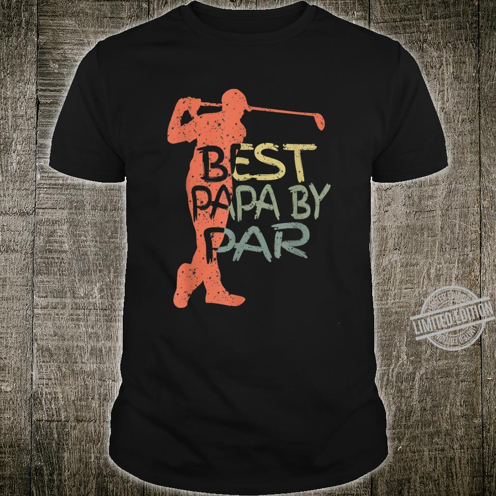 Best Dad By Par Daddy Father's Day Golf Shirt