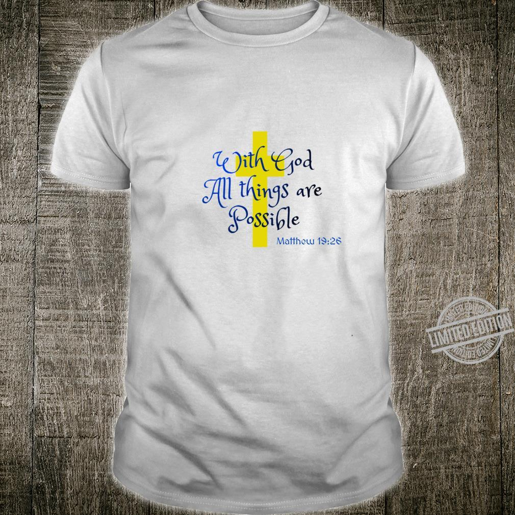 Bible Quote All things Racerback Shirt