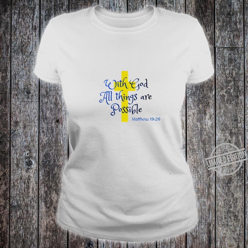 Bible Quote All things Racerback Shirt ladies tee