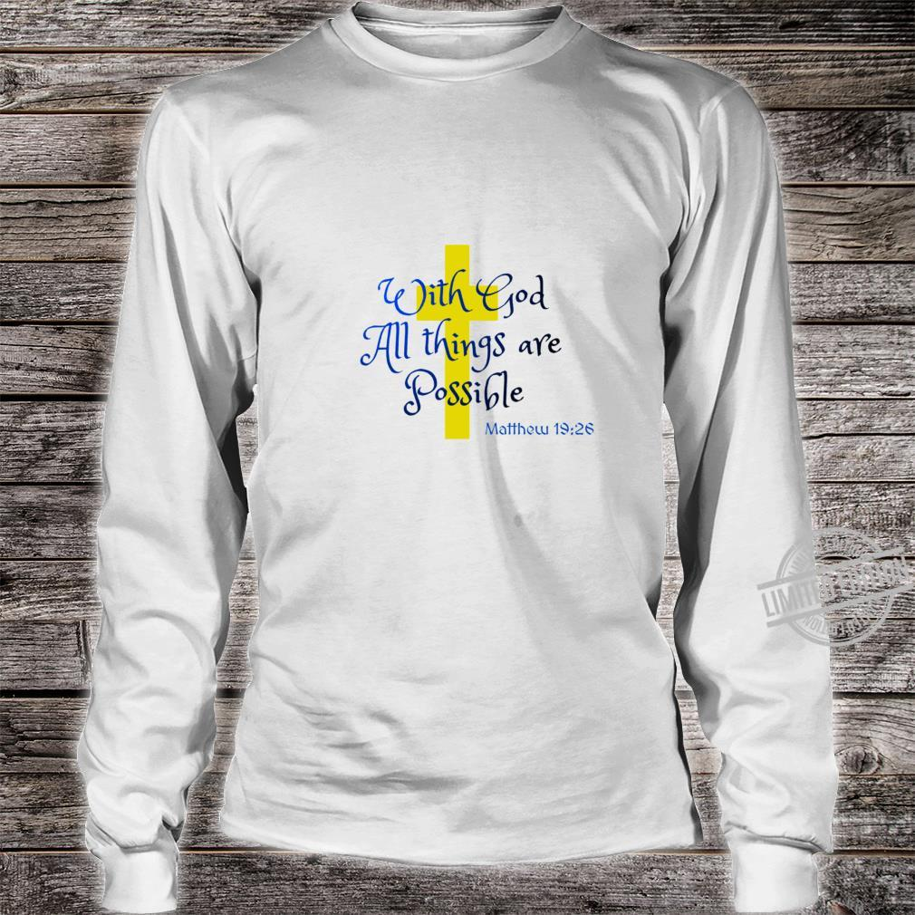 Bible Quote All things Racerback Shirt long sleeved