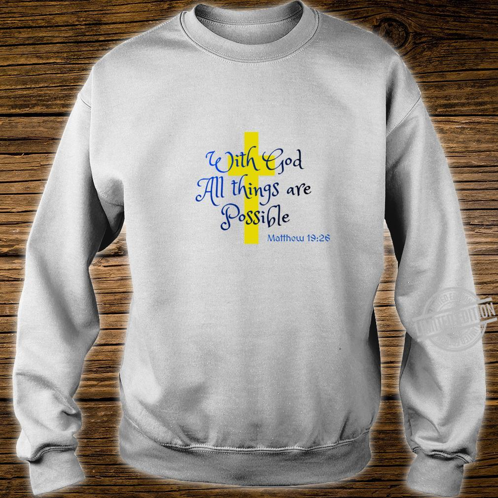 Bible Quote All things Racerback Shirt sweater
