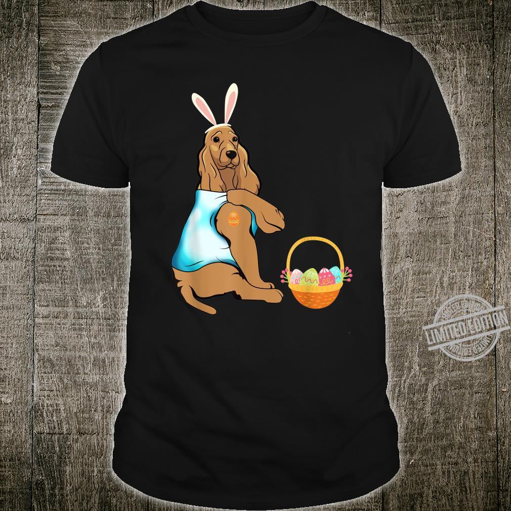 Cocker Spaniel Easter Eggs Tattoo Happy Easter Day Shirt
