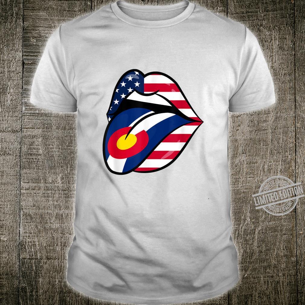 Colorado American Flag Mouth Shirt
