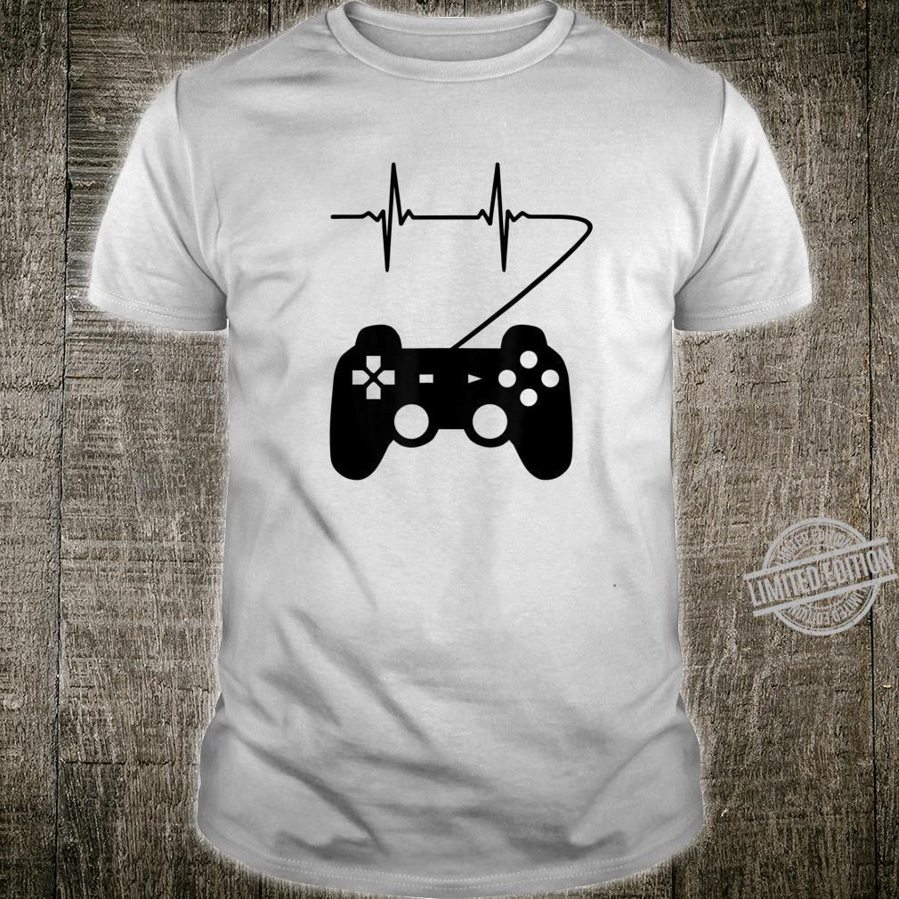 Controller Herzschlag Gaming Gamer EKG Geschenk Shirt