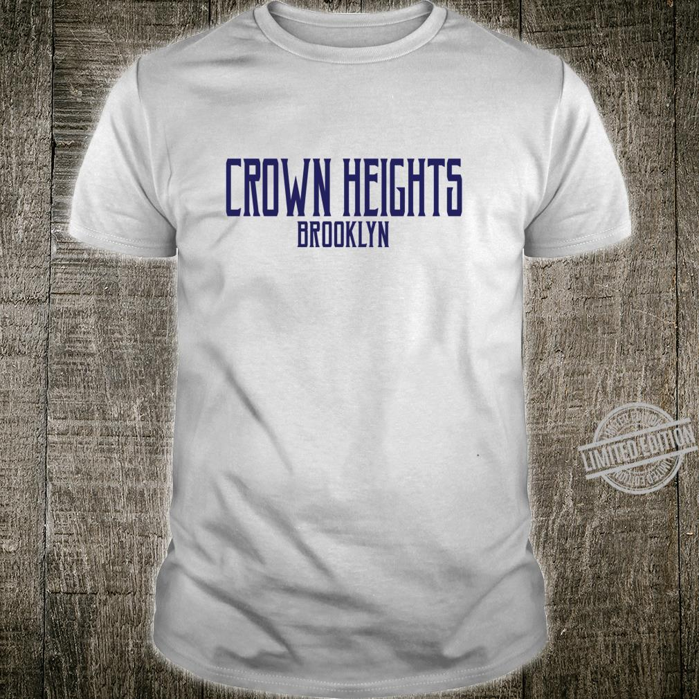 Crown Heights Vintage Text Navy Blue Print Shirt