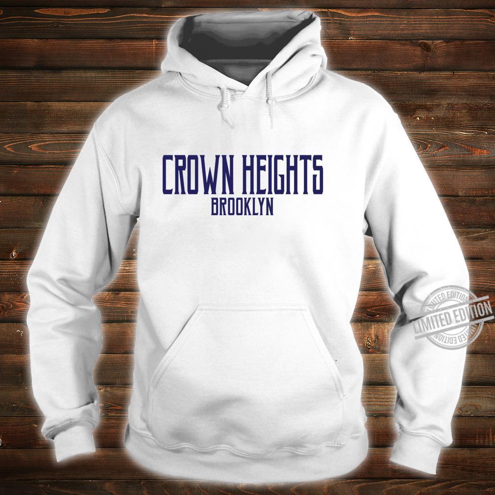 Crown Heights Vintage Text Navy Blue Print Shirt hoodie