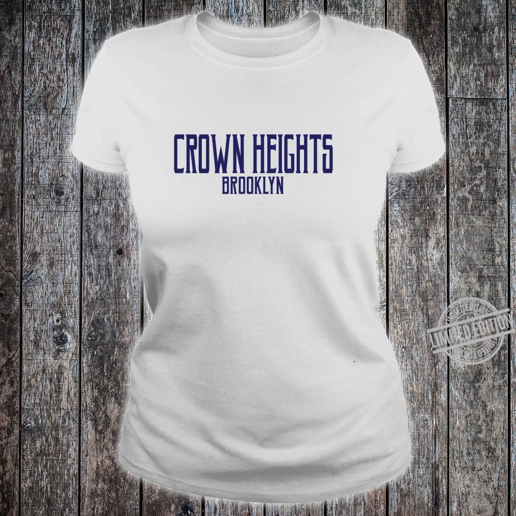 Crown Heights Vintage Text Navy Blue Print Shirt ladies tee