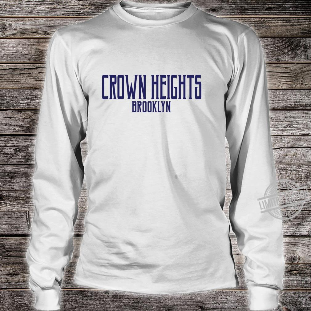 Crown Heights Vintage Text Navy Blue Print Shirt long sleeved