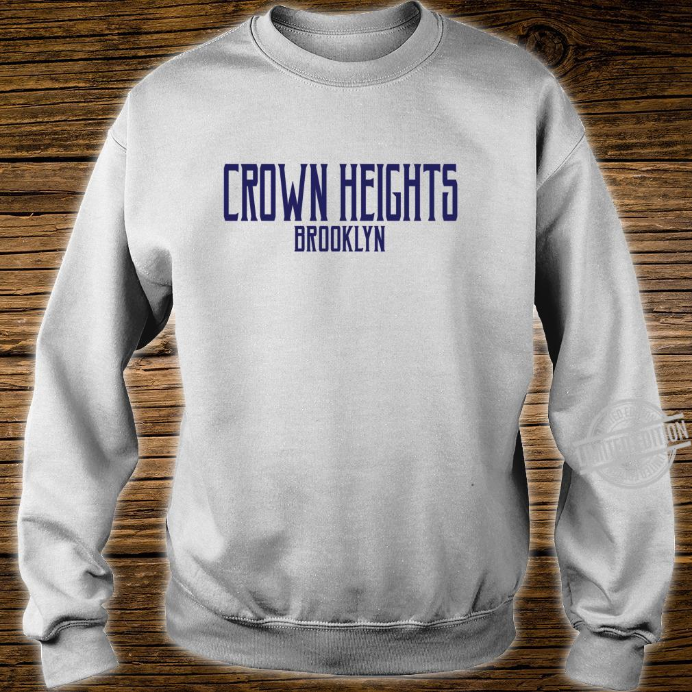 Crown Heights Vintage Text Navy Blue Print Shirt sweater