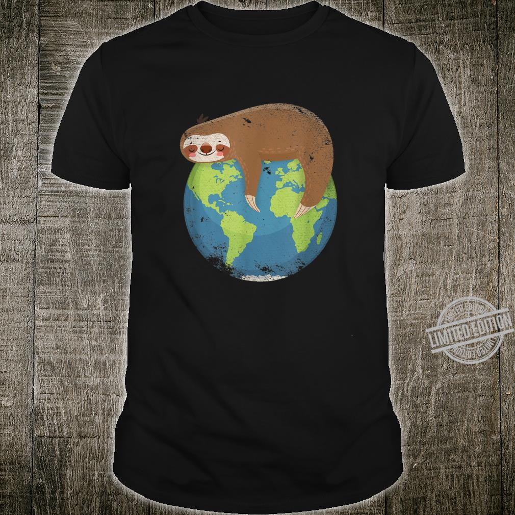 Cute Animal Sloth Climate Change Earth Anniversary Earth Day Shirt