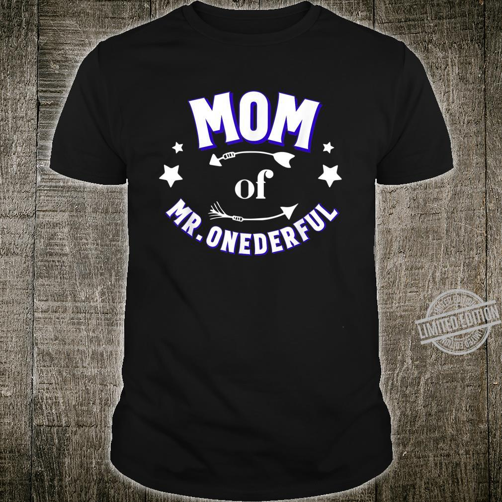 Cute Mom of Mr Onederful 1st Birthday Boy Matching Shirt