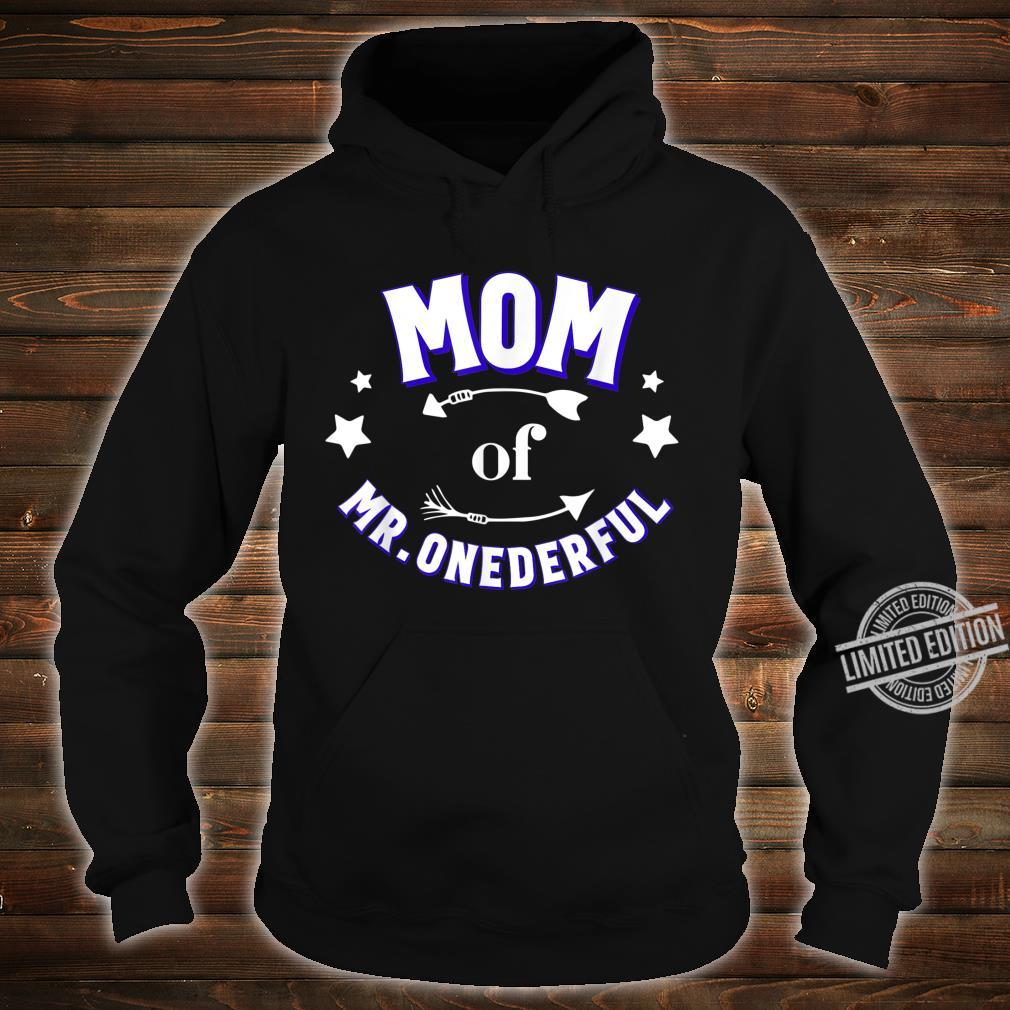 Cute Mom of Mr Onederful 1st Birthday Boy Matching Shirt hoodie