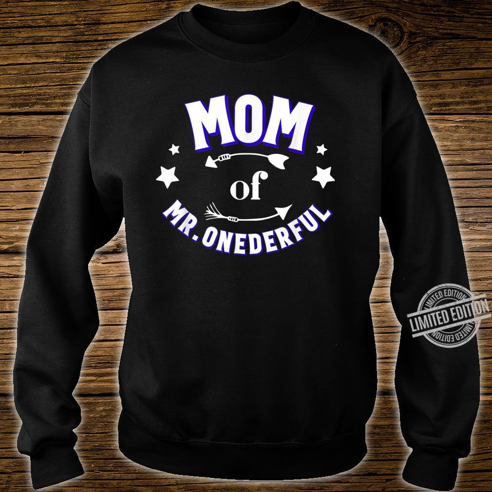 Cute Mom of Mr Onederful 1st Birthday Boy Matching Shirt sweater