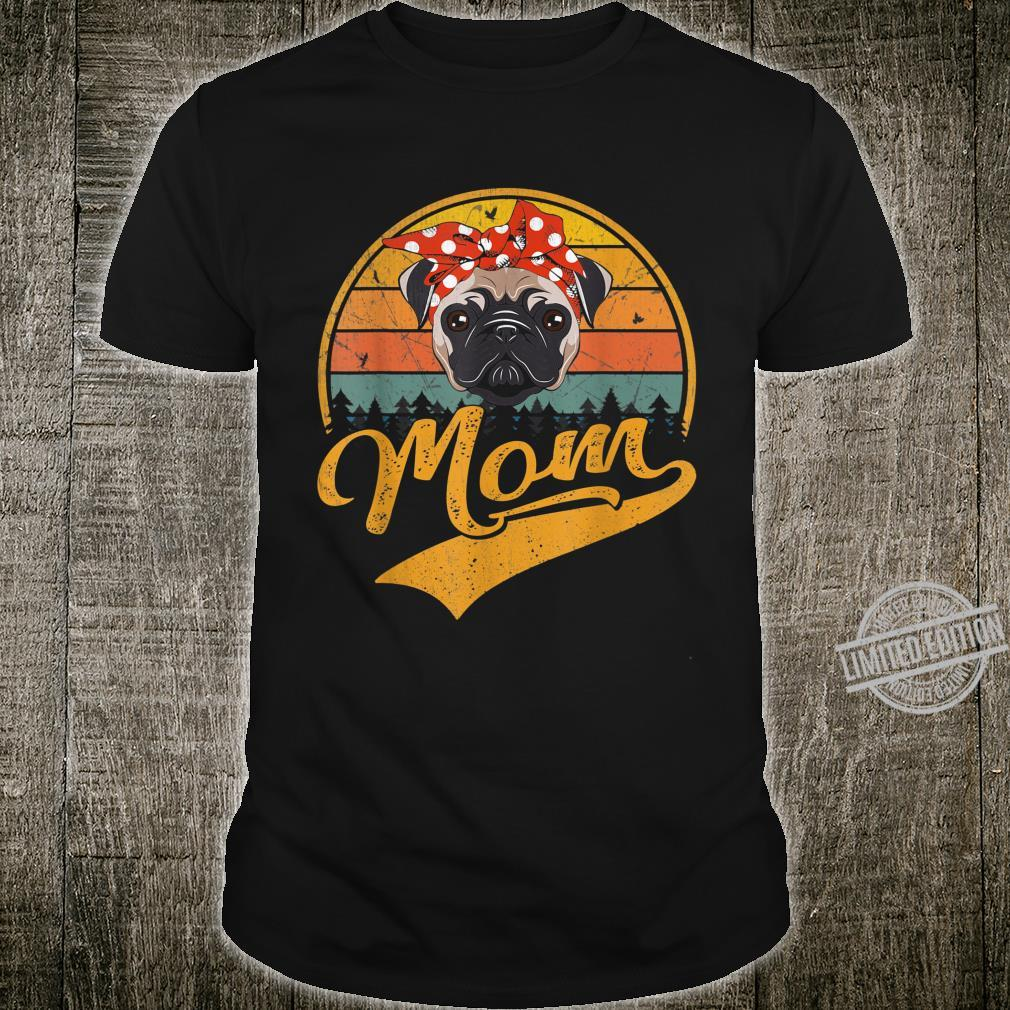 Cute Mother's Day Retro Vintage Pug Mom Shirt
