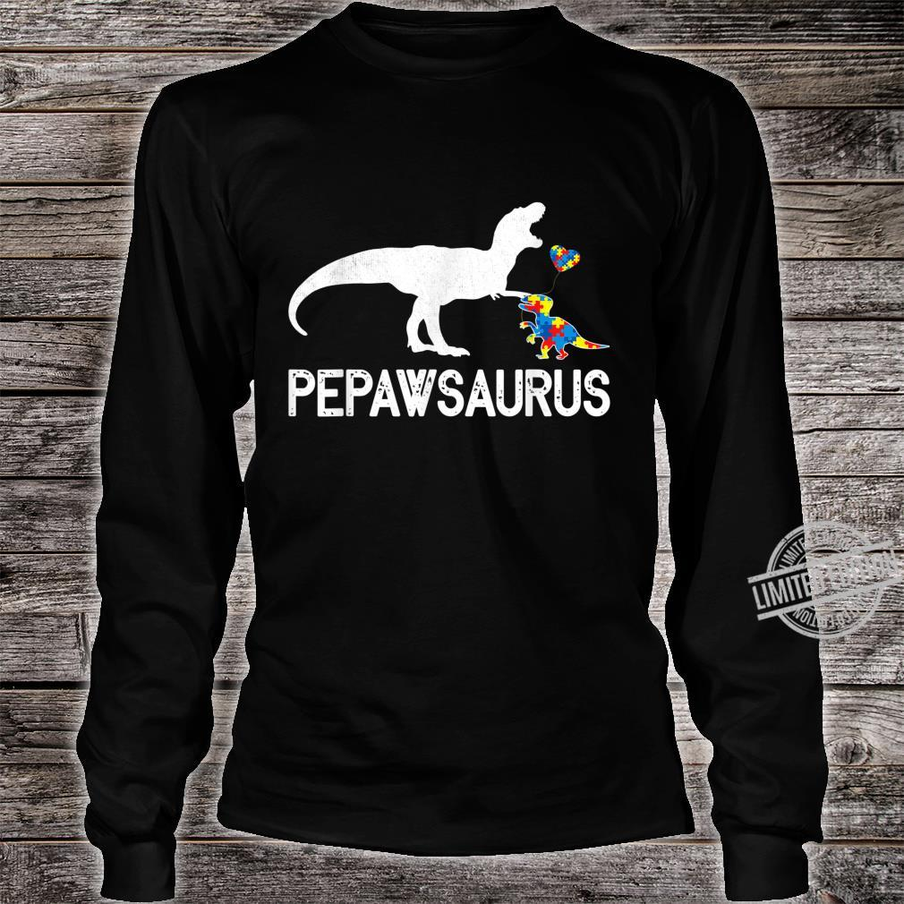 Cute Pepawsaurus Outfit Dinosaur Autism Awareness Shirt long sleeved