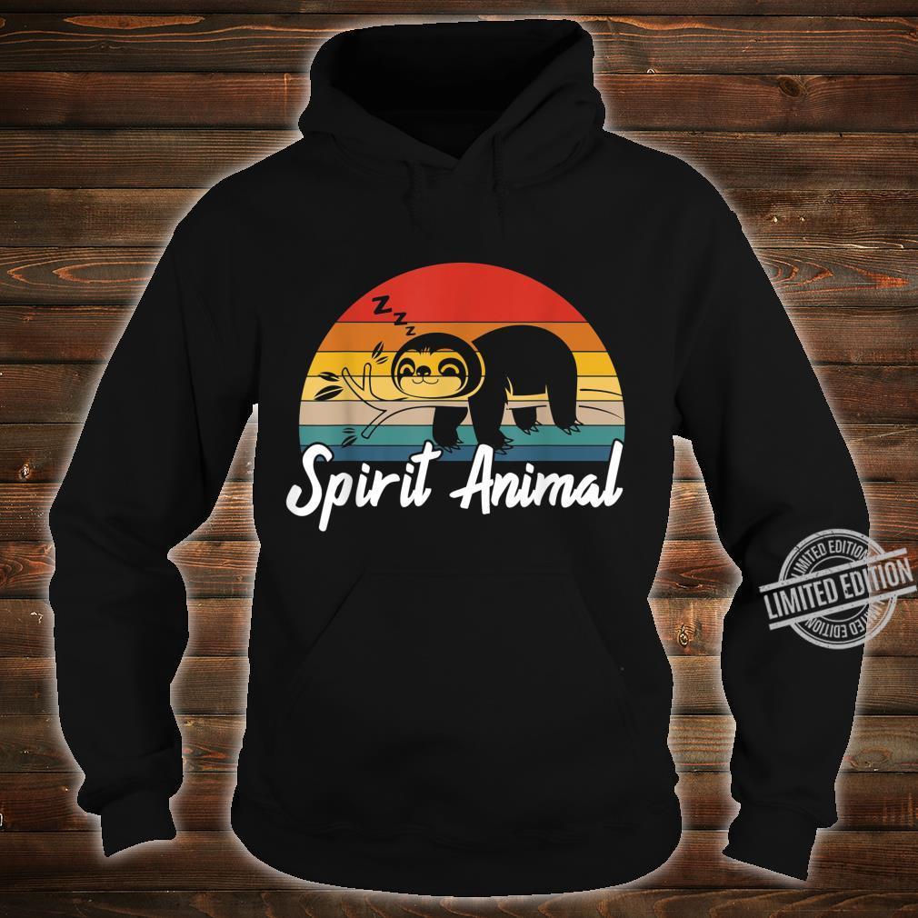 Cute Sloth Is My Spirit Animal Vintage Lazy People Nap Sleep Shirt hoodie