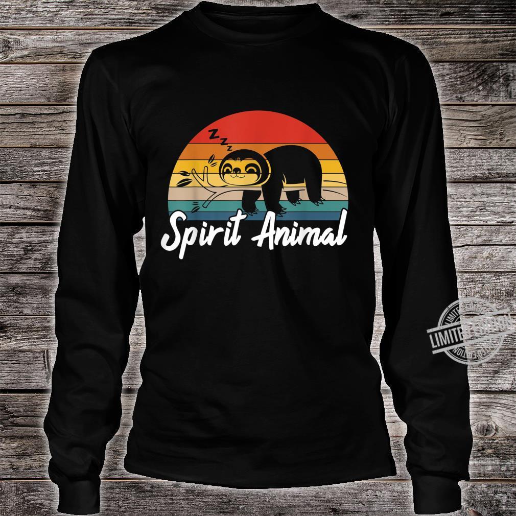 Cute Sloth Is My Spirit Animal Vintage Lazy People Nap Sleep Shirt long sleeved
