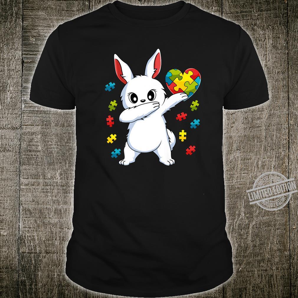Dabbing Bunny Puzzle Piece Autism Awareness Boys Girls Shirt