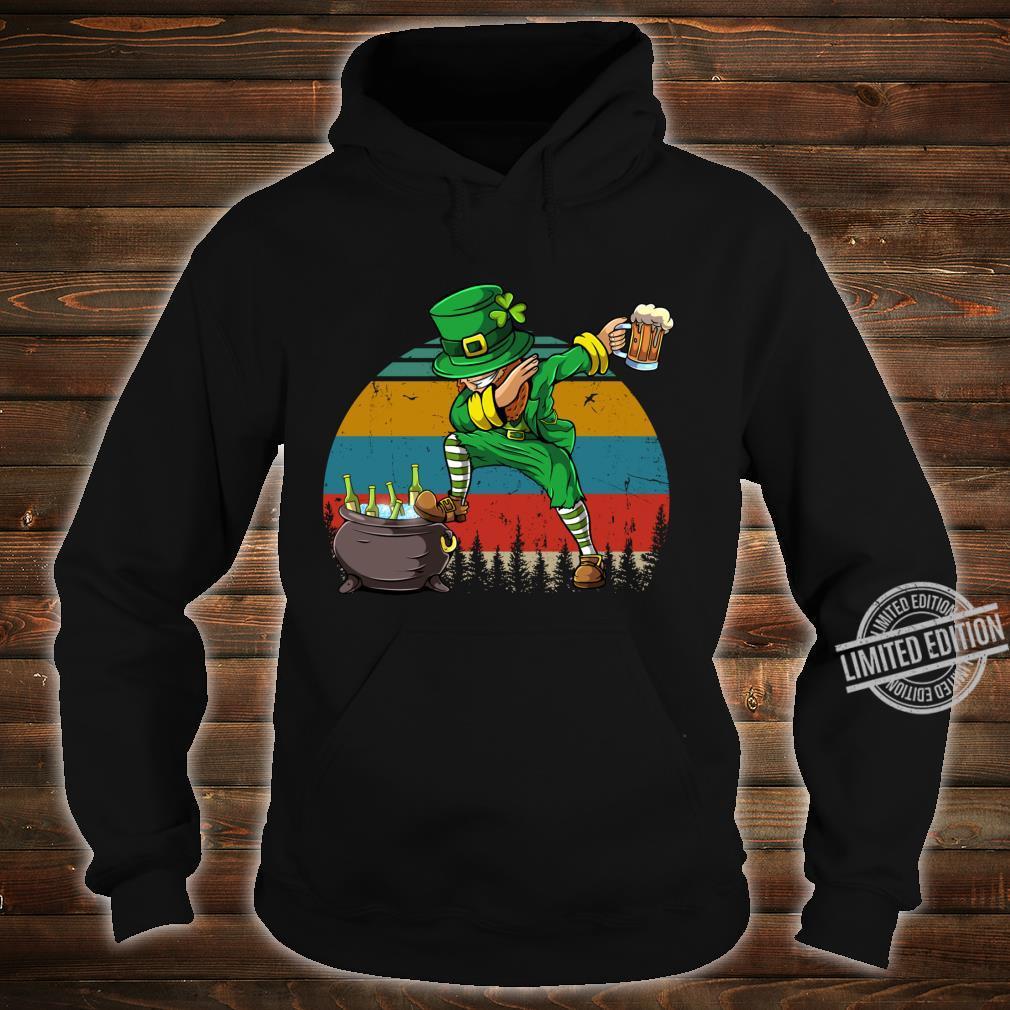 Dabbing Leprechaun St Patrick's Day Vintage Dab Dance Shirt hoodie