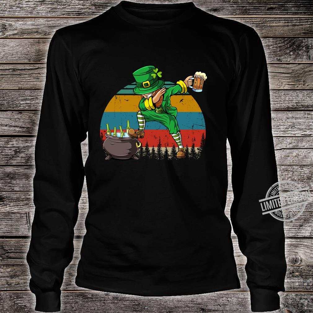 Dabbing Leprechaun St Patrick's Day Vintage Dab Dance Shirt long sleeved