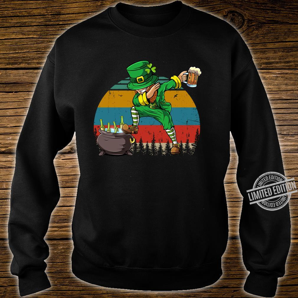 Dabbing Leprechaun St Patrick's Day Vintage Dab Dance Shirt sweater