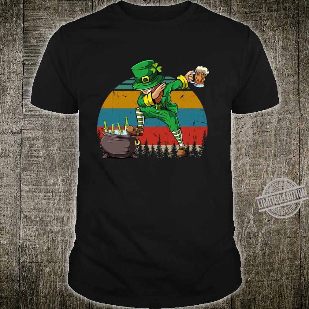 Dabbing Leprechaun St Patrick's Day Vintage Dab Dance Shirt