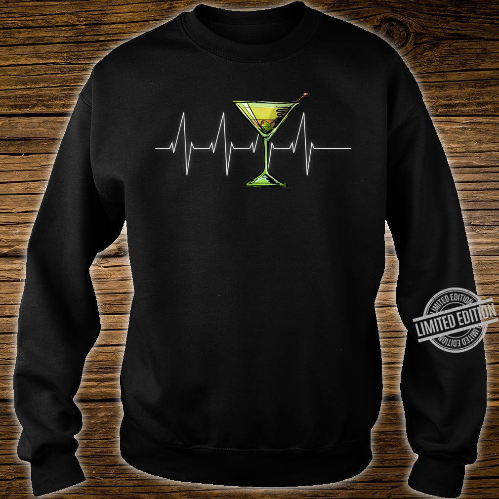 Dirty Martini Heartbeat Cocktail Glass Happy Hour Shirt sweater