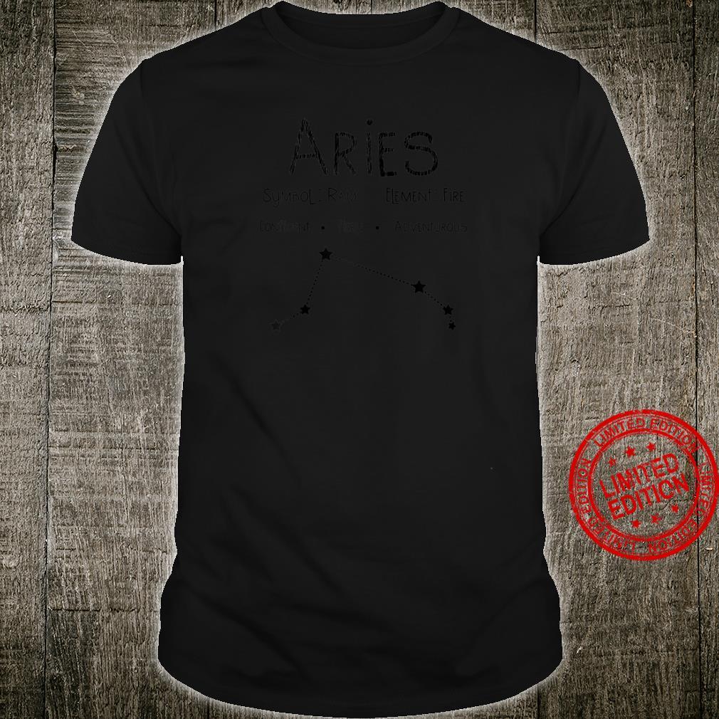Distressed Aries Symbol Sternzeichen Geburtstagsgeschenk Raglan Shirt